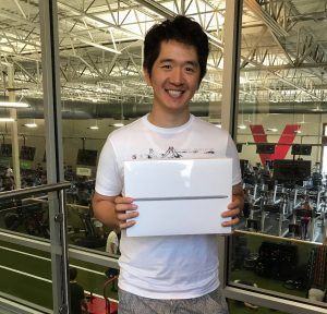 Jae Cho, Macbook winner! Fall 2017